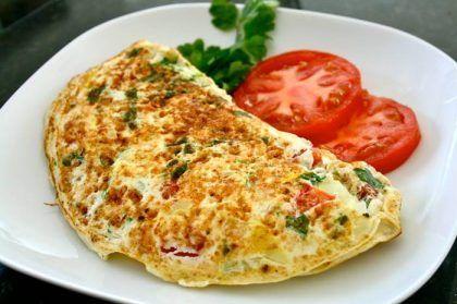 Receita fitness | Omelete de ovo com verduras