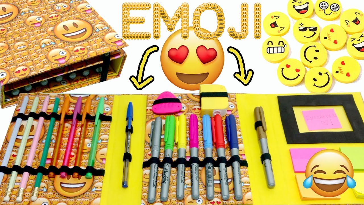 Volta as aulas com emoji | Diy